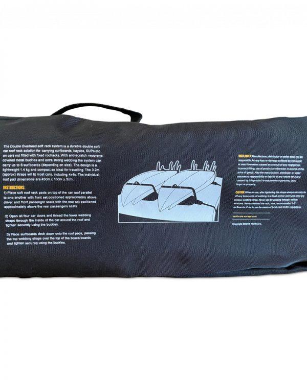 roofrack systeem softpads voor surfboards op auto