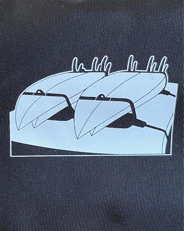 Meerdere surfboards tranporteren op auto met softracks