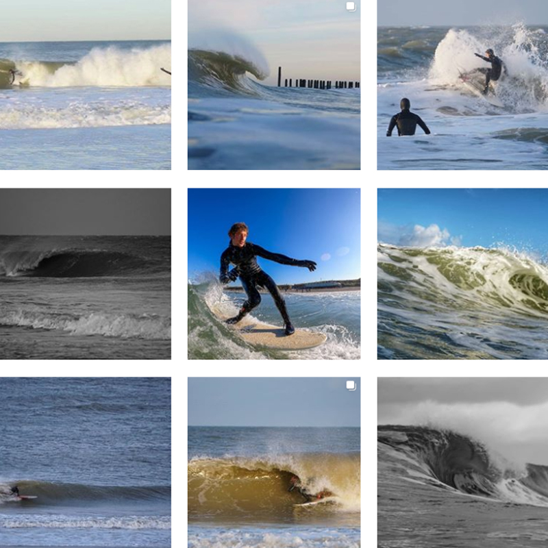 Surf Fotograaf Erwin de Visser Visual Art Domburg Collage