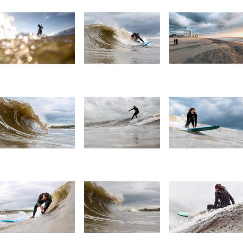 Surf fotos van surffotograaf laura van der plan in zandvoort