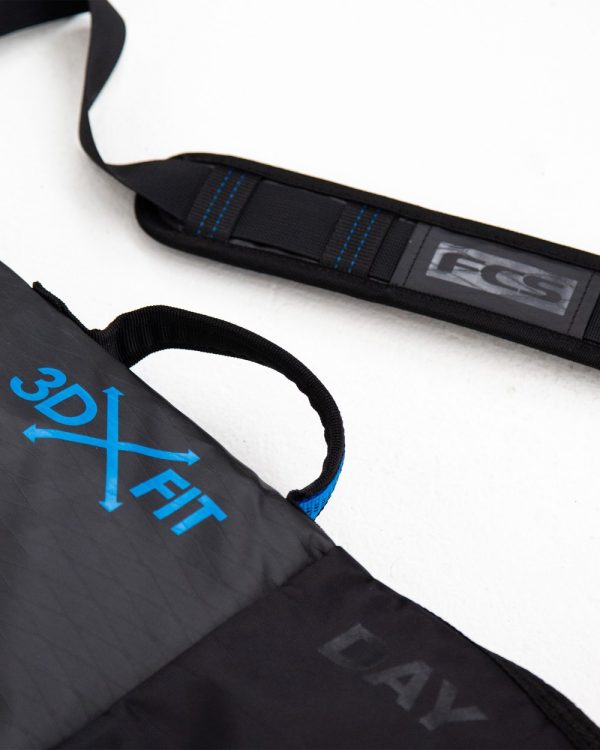 FCS Black 3DX Day Cover Boardbag Handle and Strap